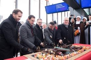 Inauguration de la gare de Lancy Pont-Rouge en décembre 2017.