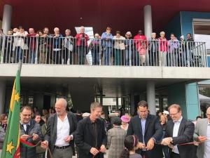Inauguration du centre socio-culturel Espace Palettes en septembre 2017.